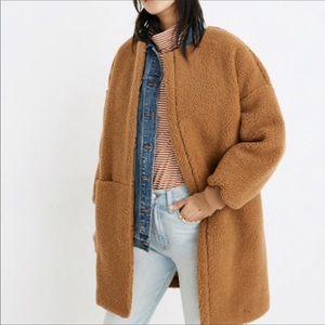 NWT Madewell Bonded Sherpa Cocoon Coat